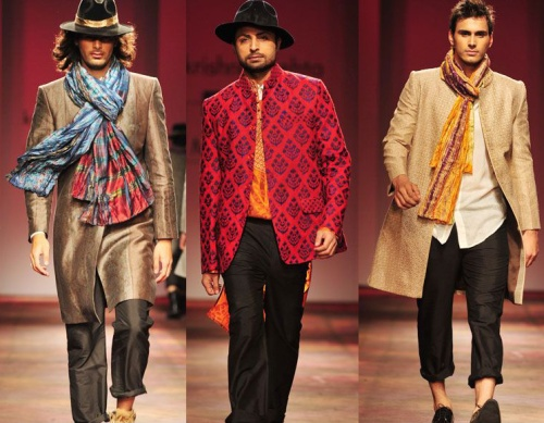 designer men's wear india best looks trends fall winter 2012