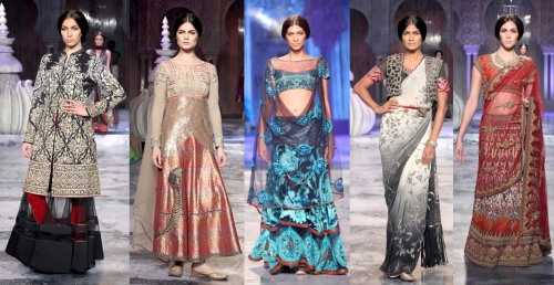 indian fashion runway trends 2012