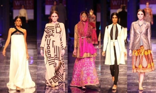 traditional indian runway fashion trends winter 2012