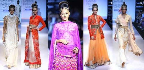 best designer looks from lakme fashion week 2012 design fall celebrity trends to watch