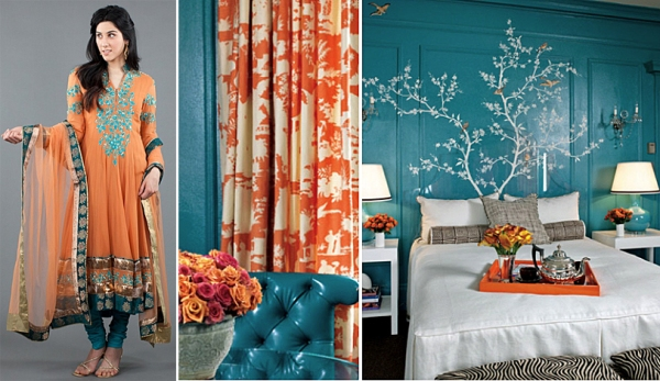 interior design inspired by fall 2012 fashion trends cool colors orange
