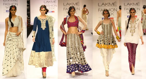 traditional indian fashion designer trends fall winter 2012 lengha lehenga salwar saree sari