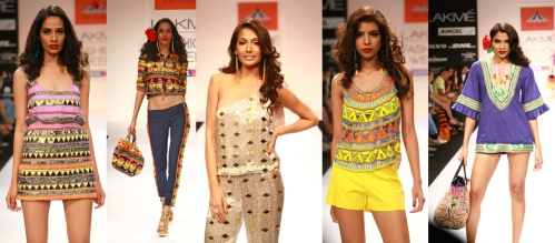 western eastern fusion fashion indian designers fall winter 2012