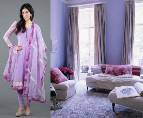 interior design inspired by fall 2012 runway fashion lilac lavender purple