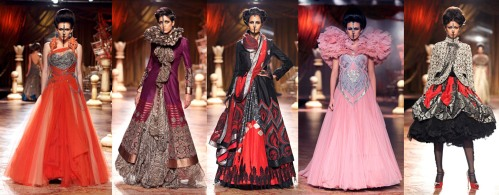 avant garde indian runway fashion design