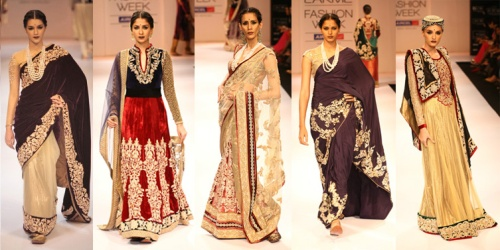 traditional ethnic indian fashion runway trends winter fall 2012