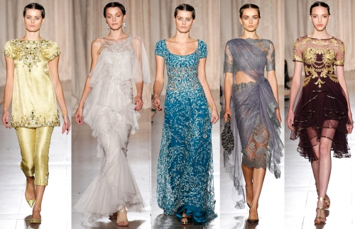 indian fashion runway trends spring 2013