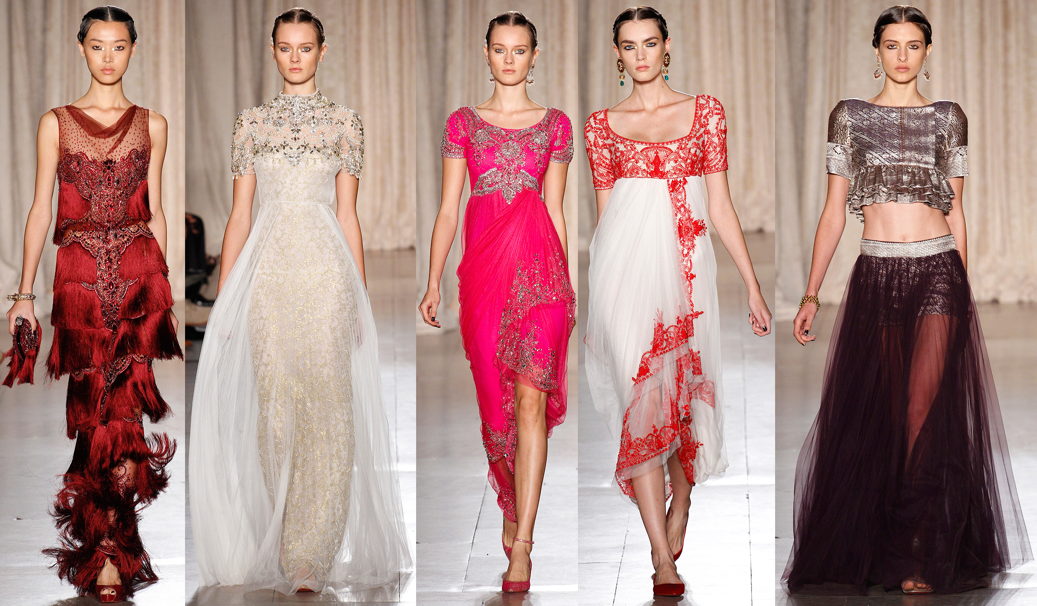 Marchesa spring 2013 rtw collection nyfw new york fashion week india