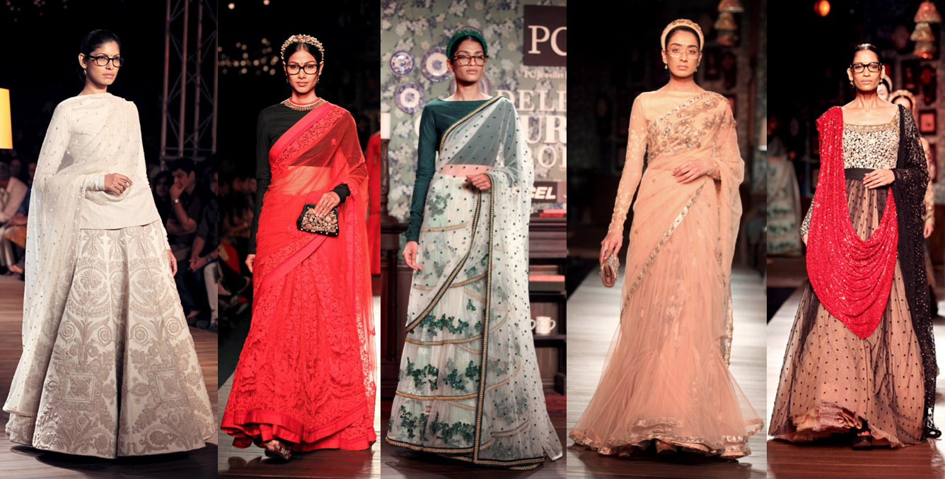 Luxe Report September 2012 How To Wear A Saree in Fall and Winter – White After Labor ...