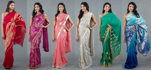 foil work indian clothing technique saree sari trends 2012 2013