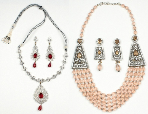 indian jewelry necklaces inspired by breast cancer awareness month