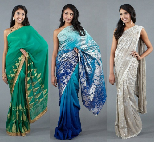 saree sari trends 2012 2013 indian Red Carpet runway styles