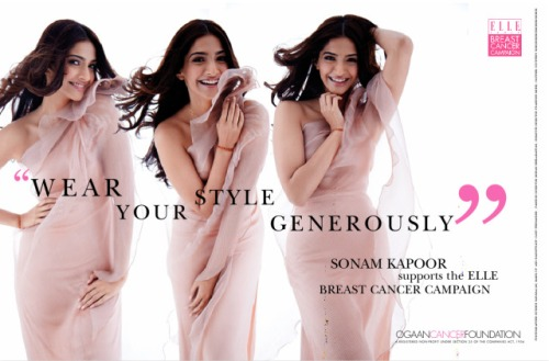 Sonam Kapoor Elle breast cancer awareness campaign