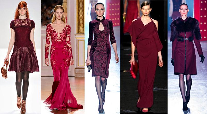 Burgundy Runway Looks Top Fashion Trends 2012 2013 Fall Winter Jason Wu Wine Oxblood The Luxe