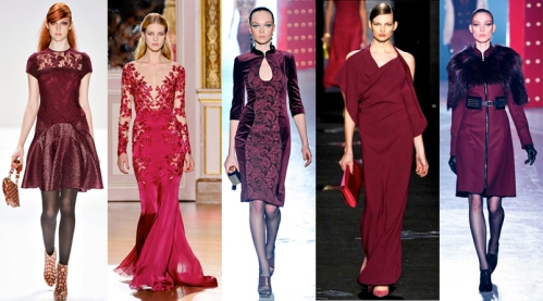 top trends 2013 2012 burgundy oxblood