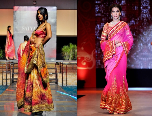 designer lehenga saree history