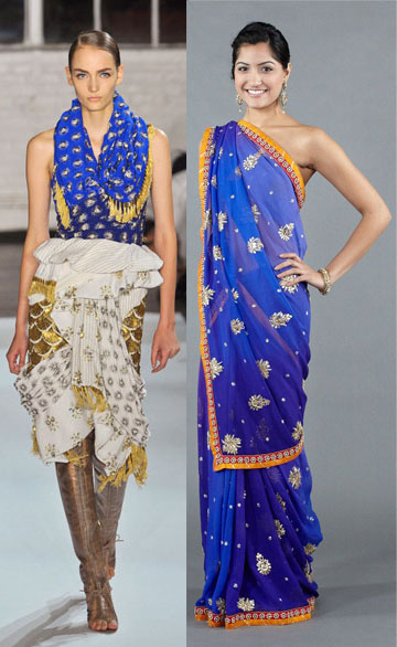 indian inspired western runway fashion