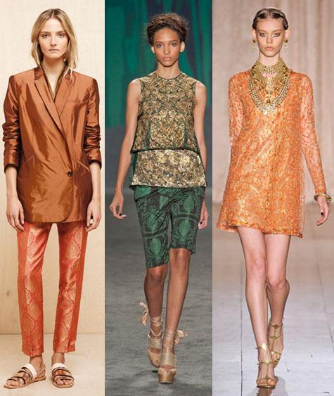 indian inspired runway fashion 2013