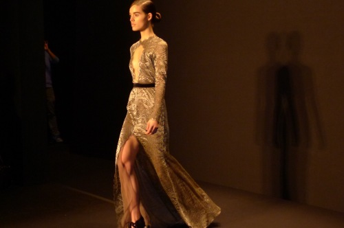 Naem Khan NYFW 2013 lace dress