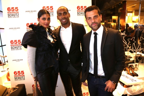 Rachel Roy, Alexandre Birman, Jason Bolden  JASON BOLDEN for SCHUTZ Launch new york fashion week 2013