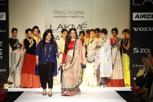 Payal Singhal and Aditi Rao Hydari close out the Taj show at Lakme Fashion Week.