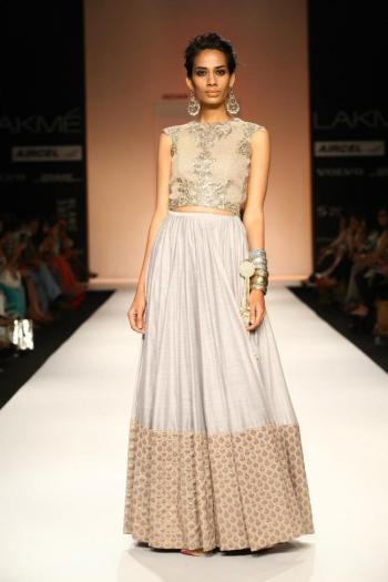 Give the skirt/top combo an Indian twist with this Anarkali-inspired take.