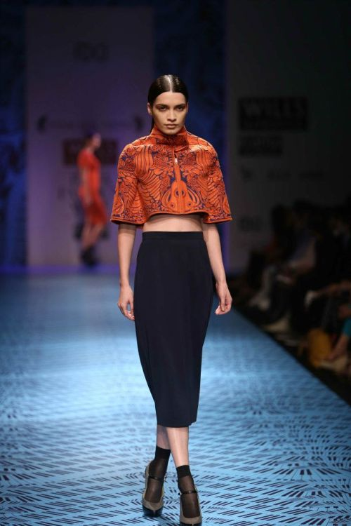 Pankaj & Nidhi FW 2013 Wills India Fashion Week 2