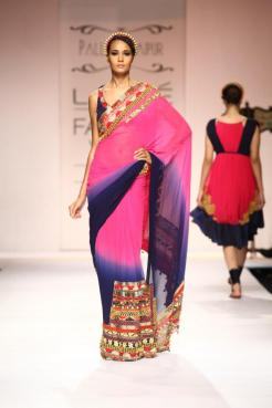 Toughen up a girly sari and braids with a halo that's more funky fashionista than demure angelic.