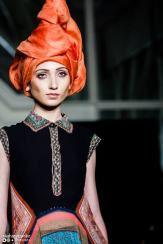 Tarun Tahiliani's collection featured origami-inspired turbans that looked like flames. Take that, Katniss.