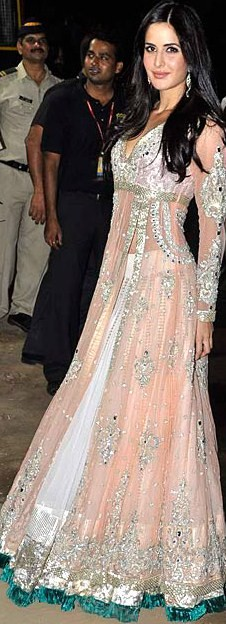 Katrina Kaif in a Manish Malhotra anarklai with lehenga