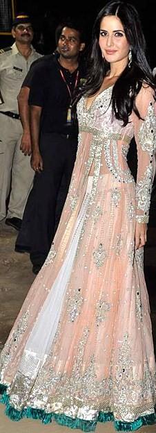 Katrina Kaif in a Manish Malhotra anarklai with lehenga
