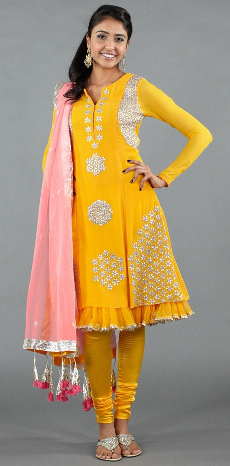 mango salwar by Nikasha with gota embroidery