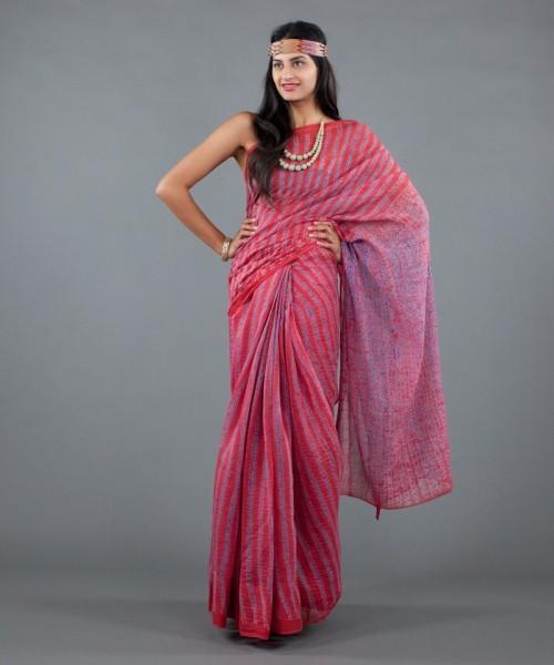 Colorful saree by Neeru Kumar
