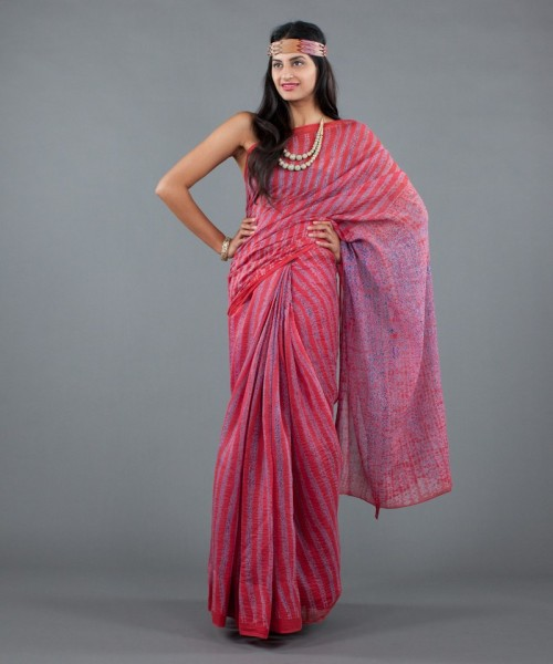 Colorful saree by Neeru Kumar