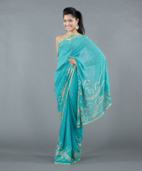 Luxemi's georgette saree