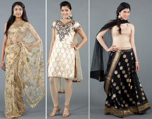 Luxemi's gold indian wear
