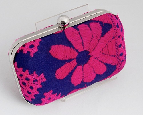 embroidered clutch by 5 Elements