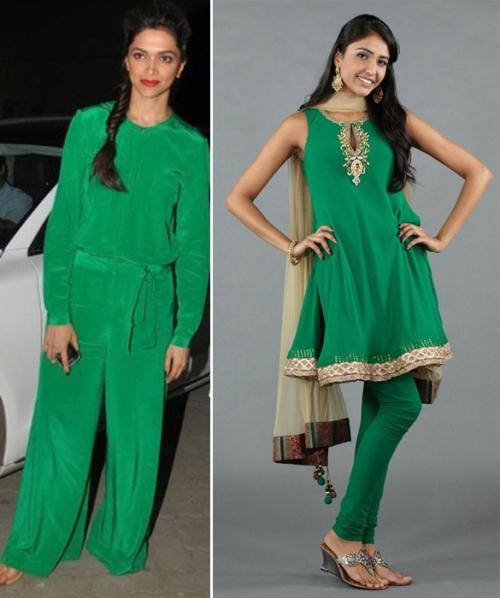 Deepika Padukone wearing Rachel Roy jumpsuit