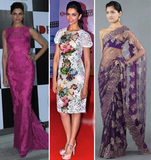 Deepika Padukone in lace outfits