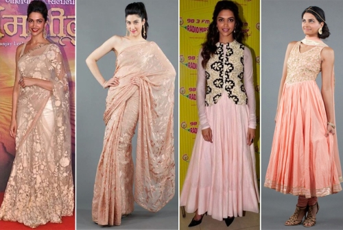 Deepika Padukone in  muted colors