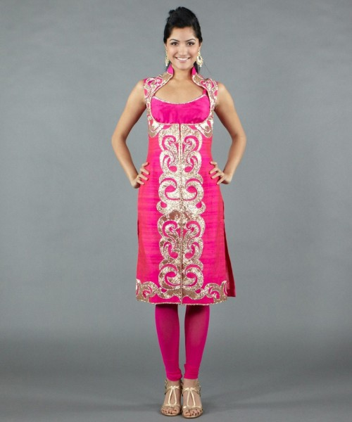 Silk coat salwar