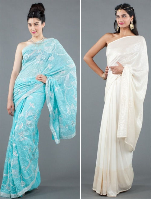 Luxemi's sequined sarees
