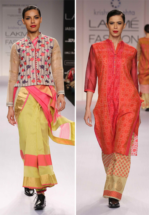 Krishna Mehta at LFW SR14
