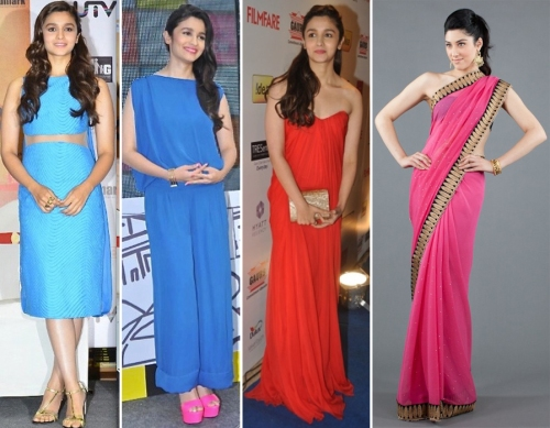 Alia Bhatt in bright colors