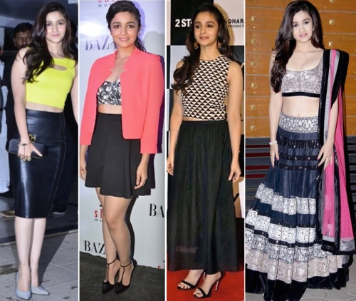 Alia Bhatt in crop tops