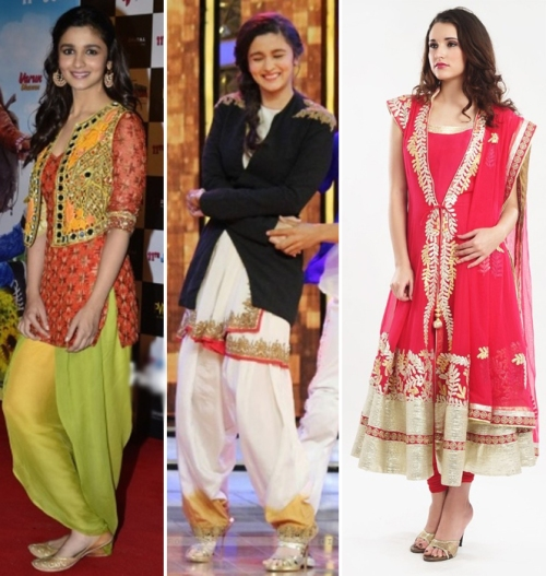 Alia Bhatt in layered indian wear