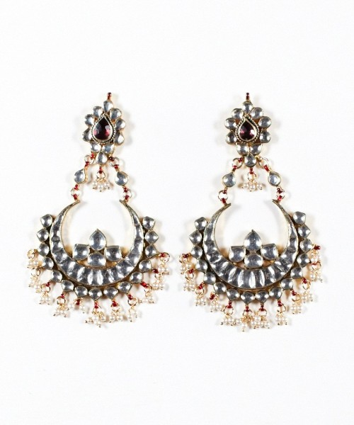 Crescent Kundan Earrings